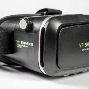 VR Shinecon 2.0 bril zwart schuin zijkant