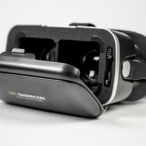 zwarte Shinecon 6.0 bril geopende telefoonhouder
