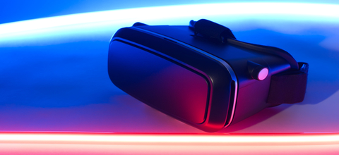 liggende VR bril bij Virtual Store