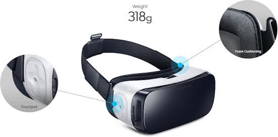 samsung gear VR knoppen